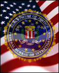 American flag and FBI seal