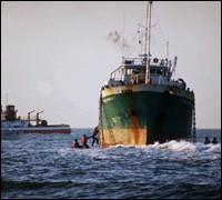 Golden Venture cargo ship runs aground