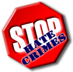 A Stop Hate Crimes graphic.