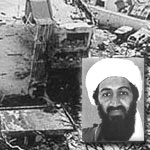 A graphic of Usama bin Laden.