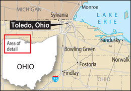 Map of Toledo, Ohio