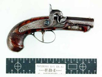 Photograph of Abraham Lincoln's Assassination Pistol