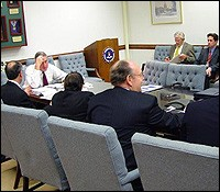 Photo of Director Mueller with his Advisory Board