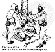 Asbestos Removal Training Graphic - Courtesy of the Illinois Environmental Protection Agency