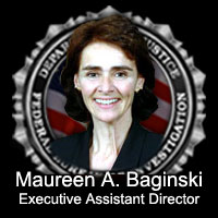 Graphic including photograph of Maureen Baginski and FBI Seal