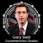 Graphic of Gary Bald and the FBI Seal