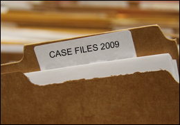 "File labeled ""case  closed"""
