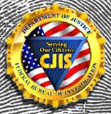 Graphic of CJIS logo and fingerprint
