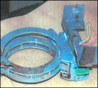 Metal collar used in explosive device