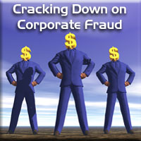 Cracking Down on Corporate Fraud Graphic