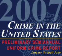Graphic showing Crime in the United States 2007