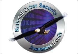 National cyber security awareness month seal.