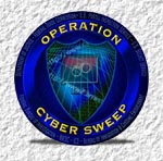 A graphic for Operation Cyber Sweep.