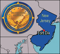 Fort Dix locator map