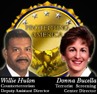 Graphic including photograph of Willie Hulon and Donna Bucella
