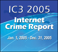 Graphic of 2005 Internet Crime Report