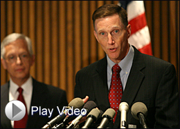 FBI Deputy Director John Pistole and Ernie Allen, President and CEO of the National Center for Missing and Exploited Children