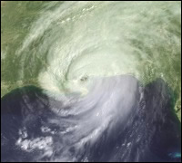 Photograph of Hurricane Katrina