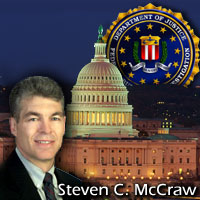 Graphic including photograph of Steven C. McCraw