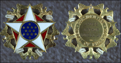 Front and back images of recovered Presidential Medal of Freedom