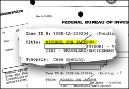 FOIA documents on Michael Joseph Jackson