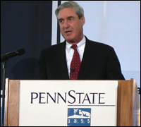 Director Mueller speaking at Penn State University