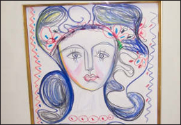 "Forged print of Picasso's ""Francoise Gilot"""