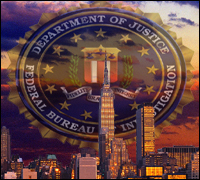 New York Skyline & FBI Seal