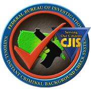 Graphic of the NICS and CJIS seals