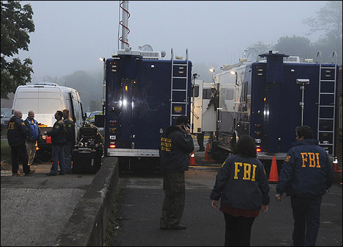 FBI personnel at operations center.
