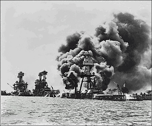The Attack on Pearl Harbor, National Archives photo