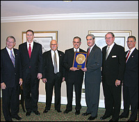 Photo of Robert Rieser recieving public service award