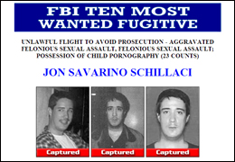 FBI TEN MOST WANTED FUGITIVE, Jon Savarino Schillaci