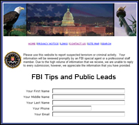 FBI Tips and Public Leads webpage