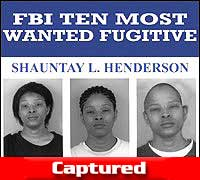 Shauntay L. Henderson Wanted Poster
