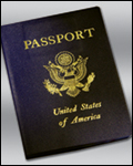 photo of a passport book