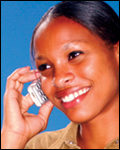 photo of woman on a cell phone