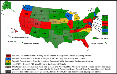 NICS Participation Map as of December 31, 2007