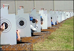 Photo of targets being scored