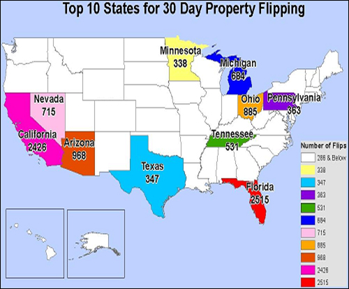 Figure 12: 30-Day Property Flip Transactions, 2009
