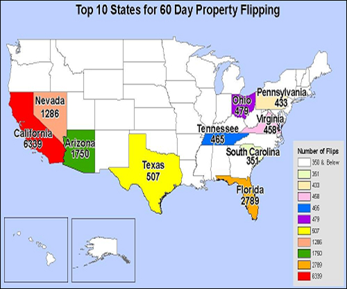 Figure 13: 60-Day Property Flip Transactions, 2009