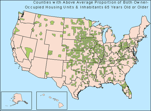 Figure 25: Vulnerable Counties Susceptible to Potential Reverse Mortgage Fraud Schemes, US Census Bureau Data