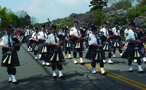 Bagpipes in parade