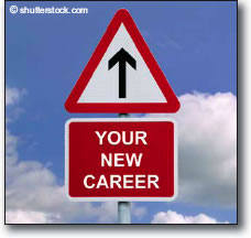 Your new career roadsign - graphic