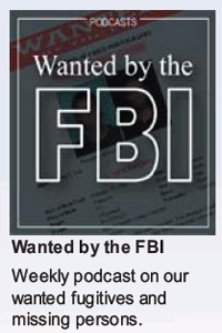 Wanted by the FBI podcast graphic